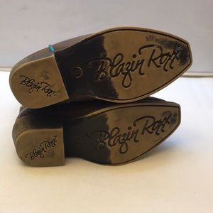Blazin Roxx Shoes - Blazin Roxx toddler boots size 6 brown & blue